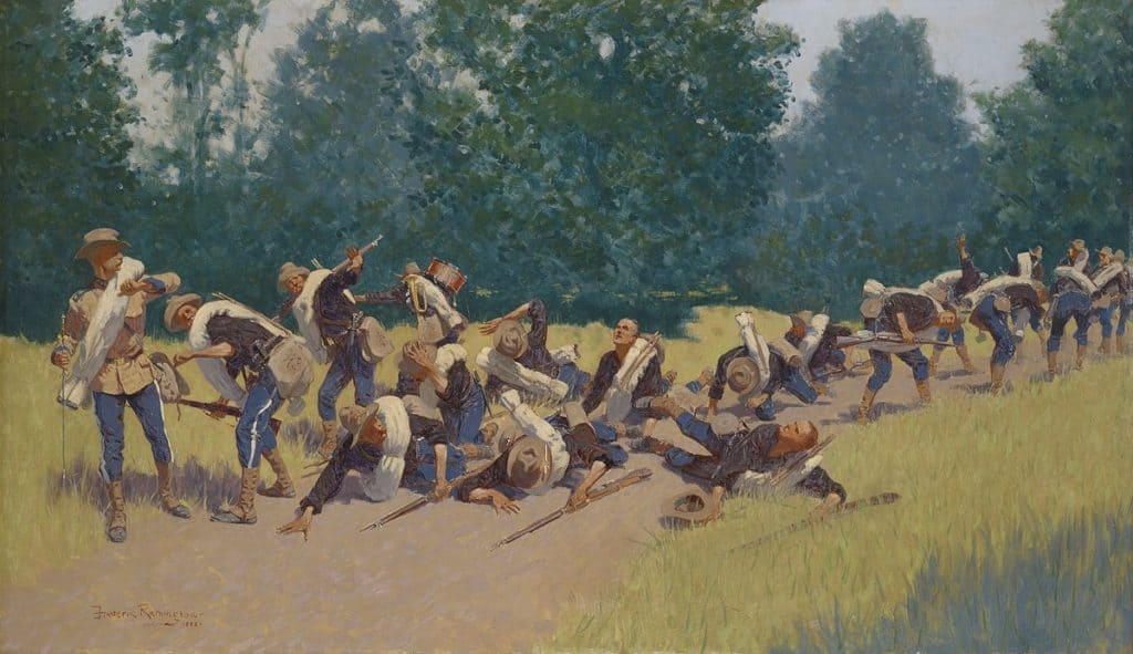 1200px-The_Scream_of_Shrapnel_at_San_Juan_Hill_by_Frederic_Remington_1898