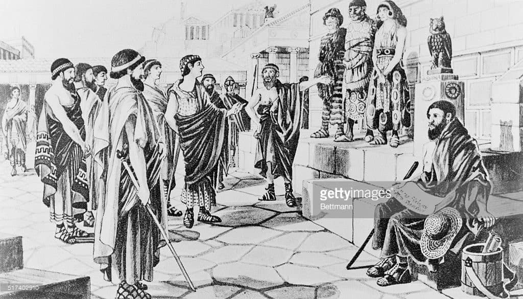 Getty Images (Prisoners of War sold as slaves in Ancient Greece)