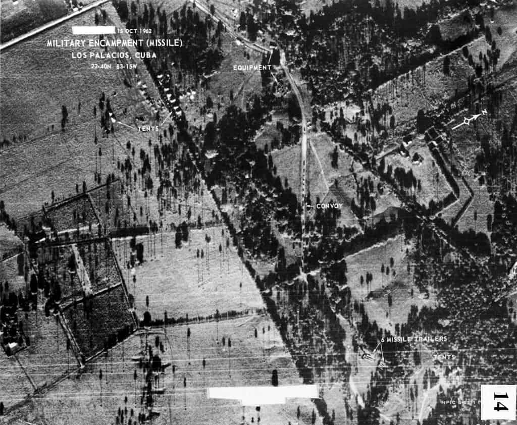 U-2 photo of Cuban missile sites