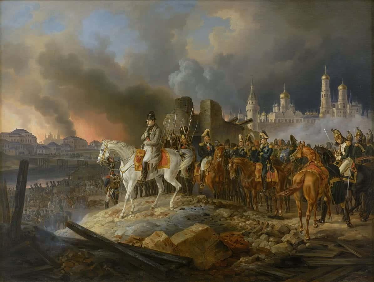 1195px-Napoleon_in_burning_Moscow_-_Adam_Albrecht_(1841)