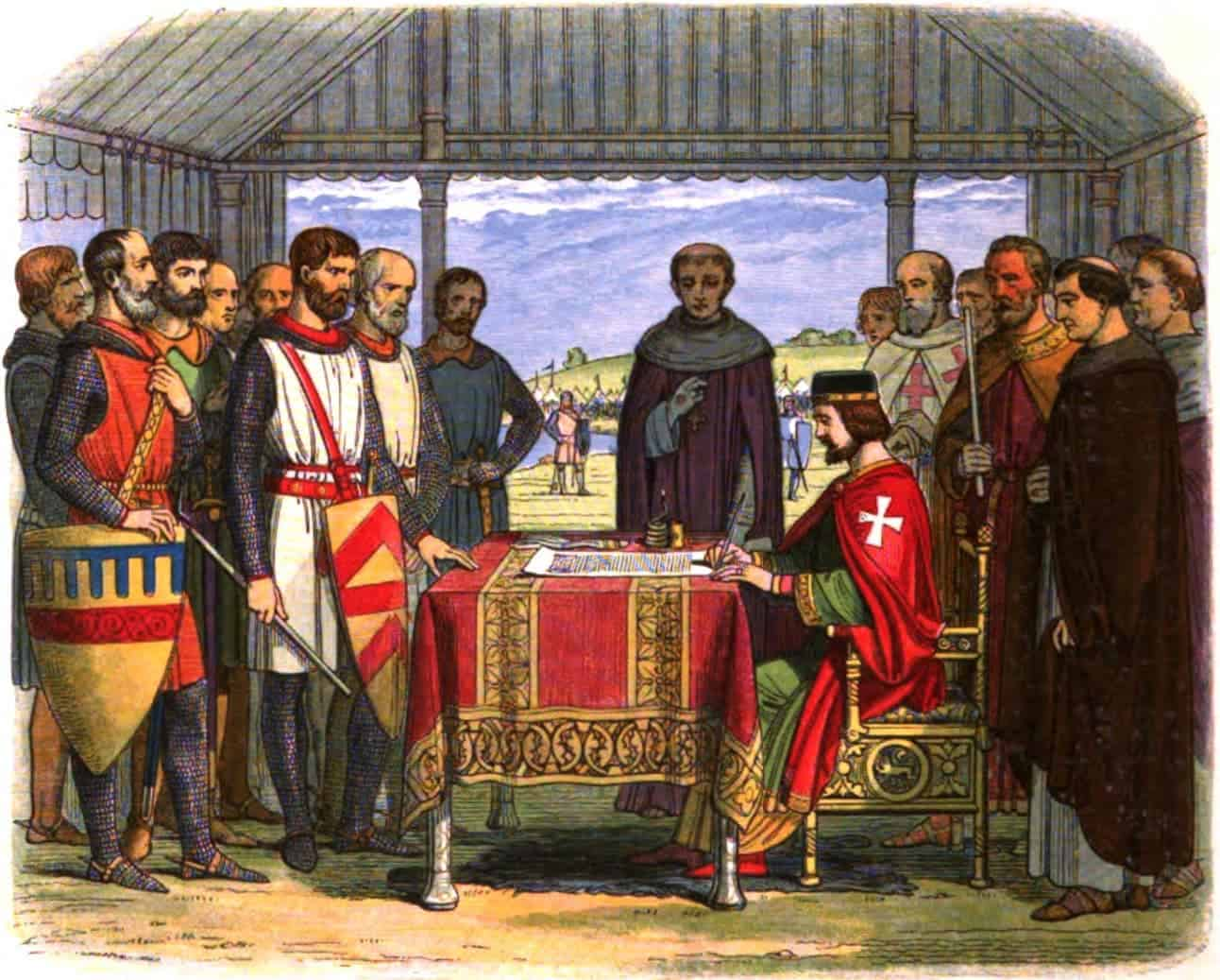 Wikipedia (19th century depiction of Magna Carta signing)