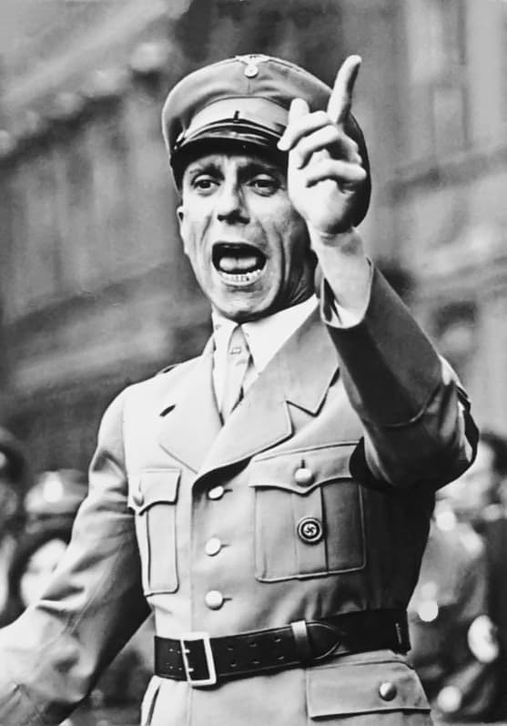 Joseph Goebbels, the head of Nazi Germany's Ministry of Public Enlightenment and Propaganda.