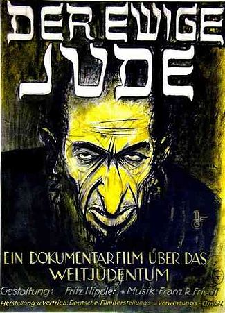 Poster for the film, The Eternal Jew, directed by Fritz Hippler