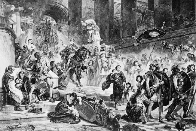 Today In History: Goths Attack The Praenestine Gate During ...