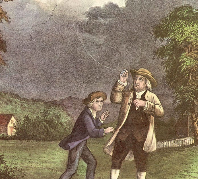 Today in History: Benjamin Franklin Dances with Lightning (1752)