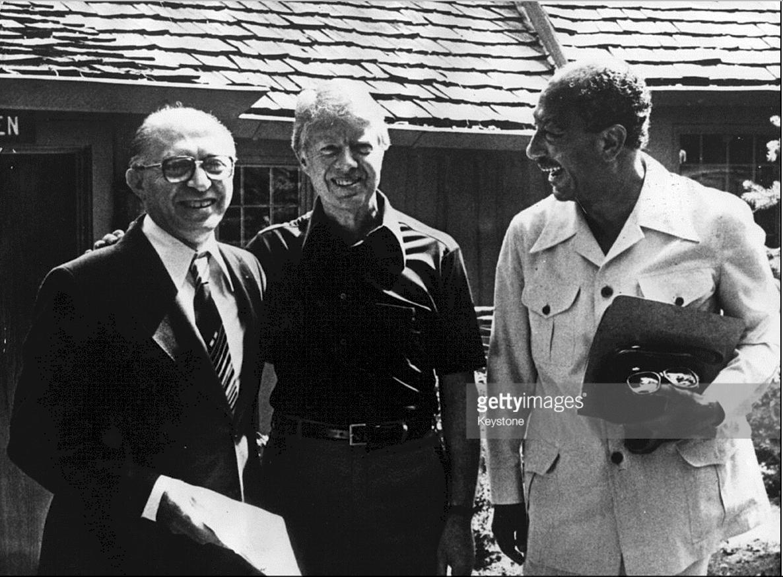 Menachem Begin Jimmy Carter And Anwar Sadat At Camp David