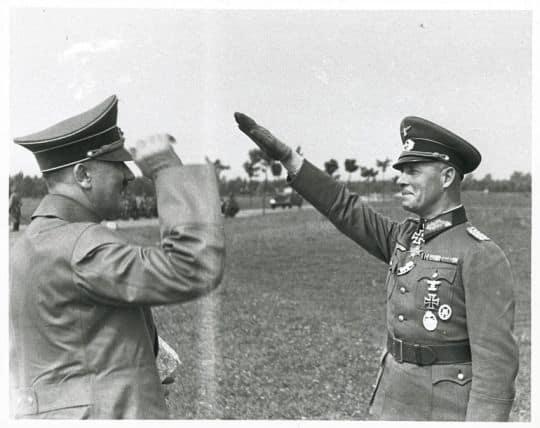 Rommel salutes Hitler