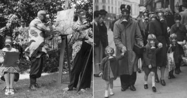 This Collection of Photos Show Disturbing Daily Life in Gas Masks During WWII