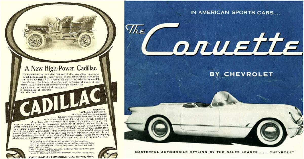Photos of Vintage Car Ads From the Early 1900s to the 1960s