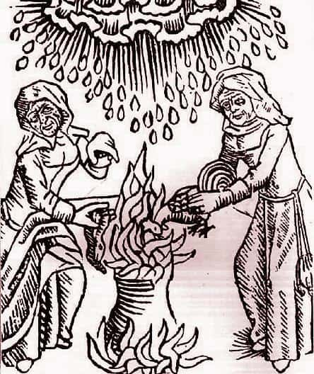 Many people believed witches could cause climate change