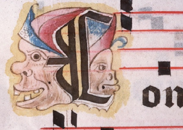 Impish designs like this were common in medieval books