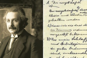 Einstein's Written Demands and 18 Other Interesting Lists Made by Historical Figures